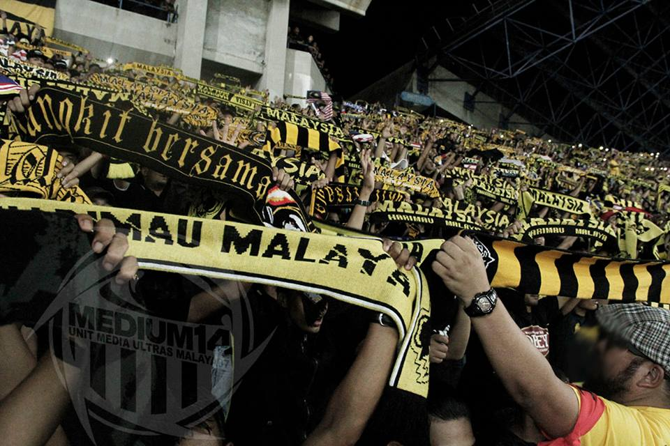 Ultras Malaya at Football Men's Team Semi-Finals. Pic: Facebook UM'07