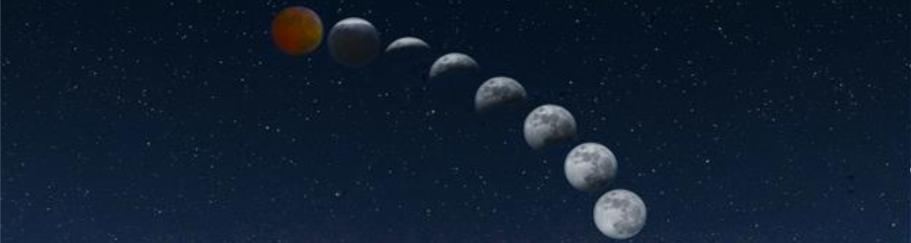 kenampakan bulan ketika gerhana