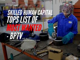 human capital ministry education tvet