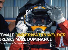 female underwater welder breaks male dominance