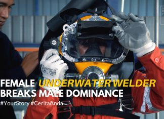 female underwater welder breaks male dominance