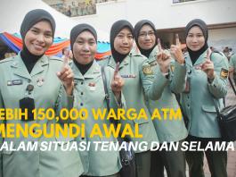 Lebih 150,000 warga ATM mengundi awal